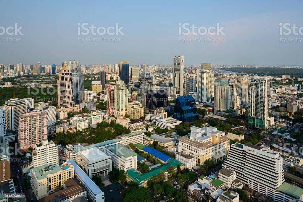 cityscape of bangkok royalty-free stock photo