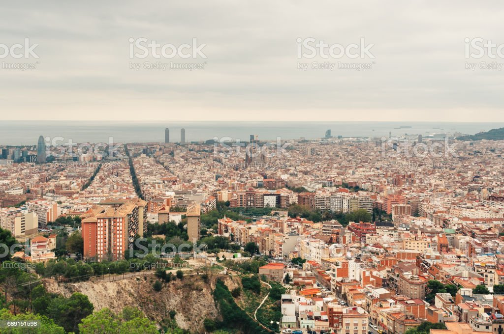 Cityscape of Barcelona stock photo