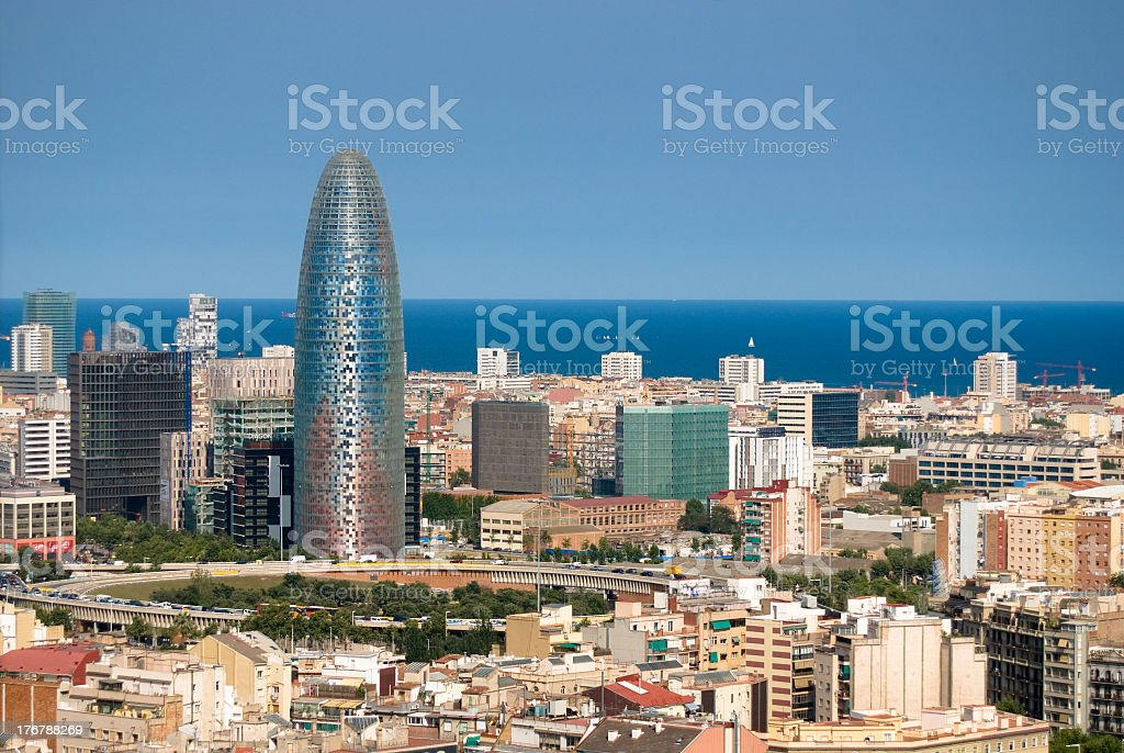 Cityscape of Barcelona, Spain royalty-free stock photo