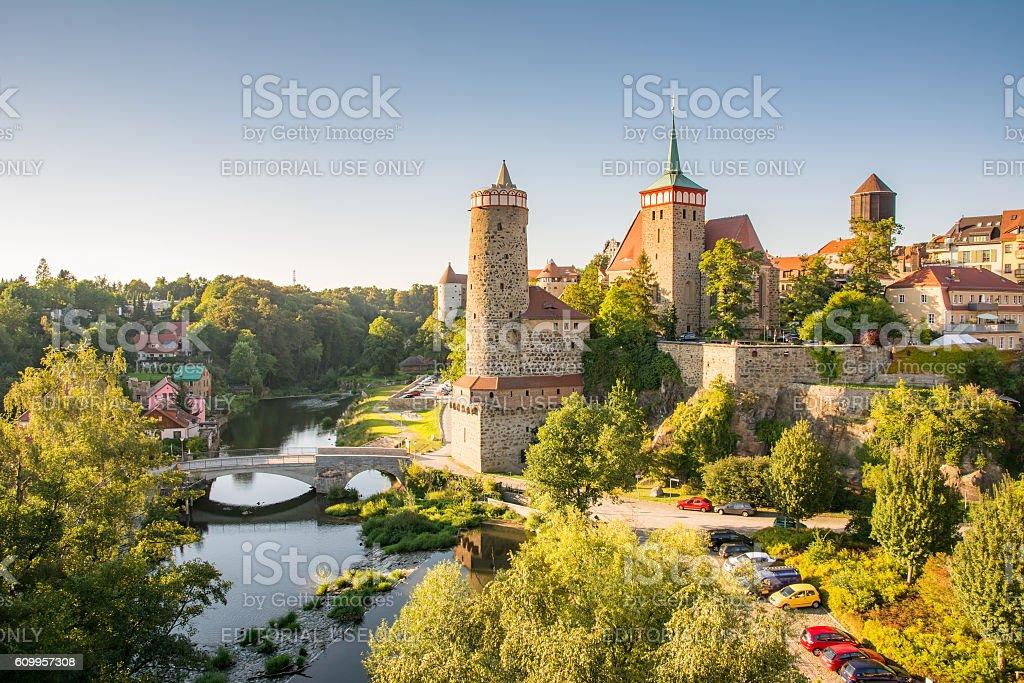 Cityscape of Bautzen stock photo