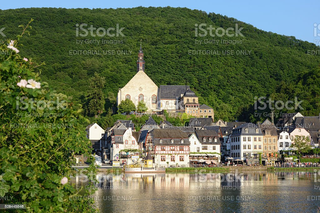 Cityscape of Beilstein with Mosel river stock photo