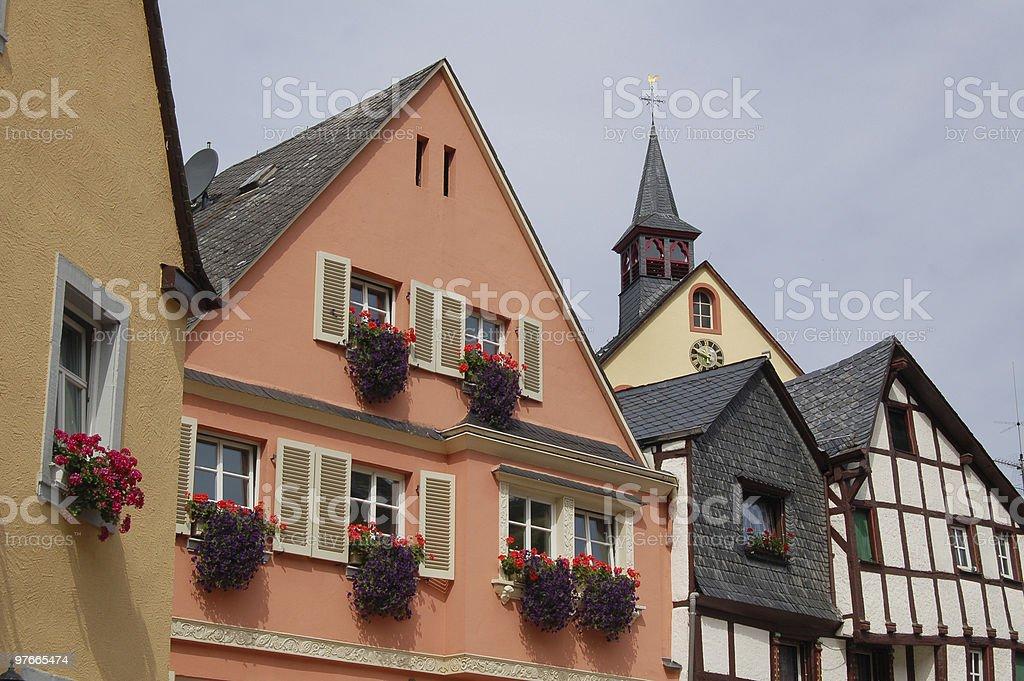 cityscape of Bernkastel-Kues (Germany) stock photo