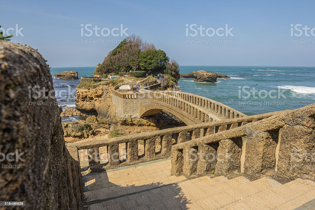 Cityscape of Biarritz, France stock photo
