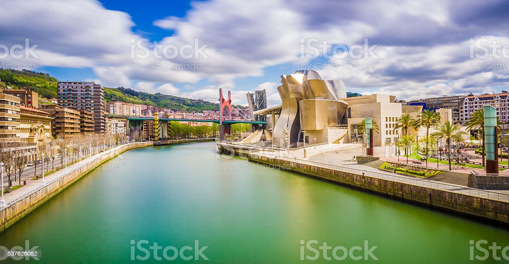 Cityscape of Bilbao stock photo