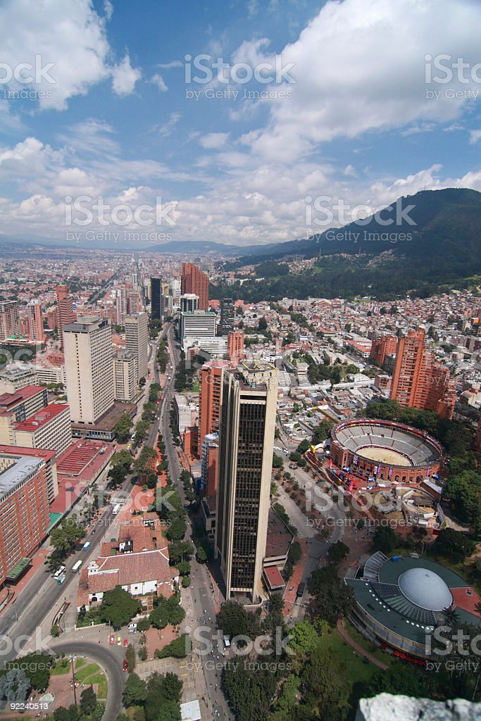 Cityscape of Bogota stock photo