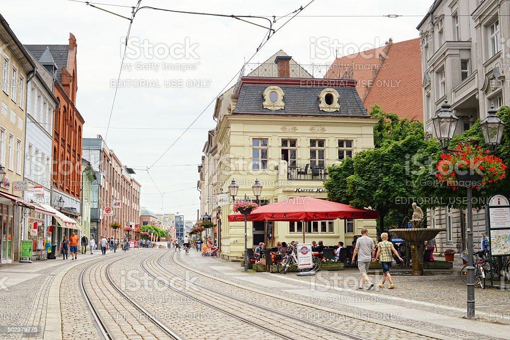 Cityscape of Brandenburg an der Havel stock photo