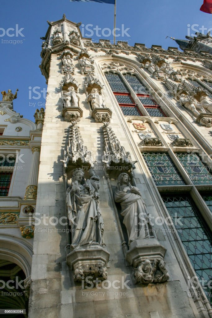 Cityscape of Bruges, Flanders, Belgium. stock photo