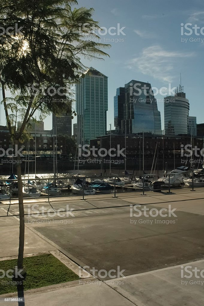 Cityscape of Buenos Aires from Puerto Madero stock photo