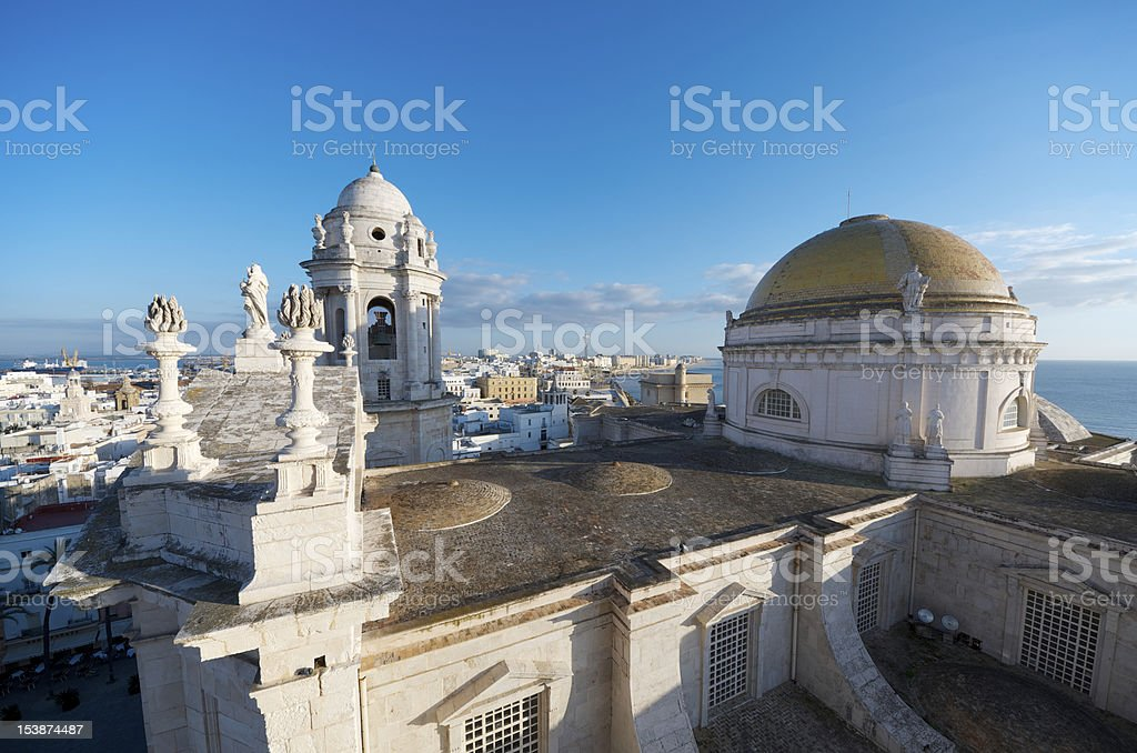 Cityscape of Cadiz, Spain, on a sunny day royalty-free stock photo