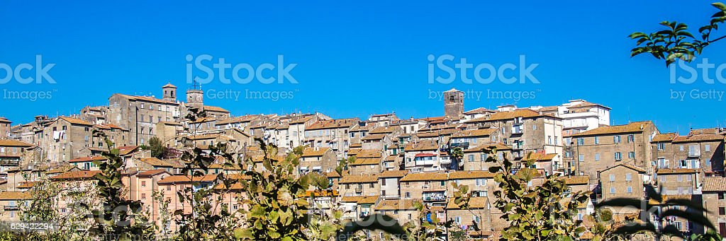 Cityscape of Caprarola, a town in central Italy. stock photo