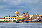Cityscape of Cartagena Colombia with Church of Saint Peter Claver