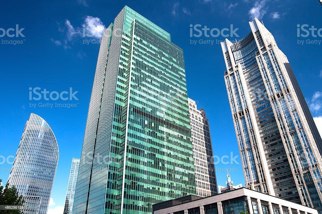 Cityscape of Chinese Shanghai stock photo