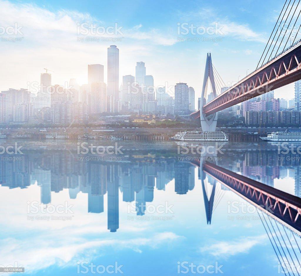 Cityscape of Chongqing stock photo