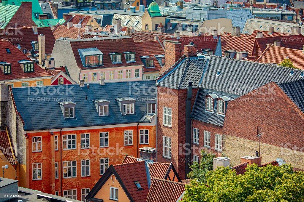 Cityscape of Copenhagen stock photo