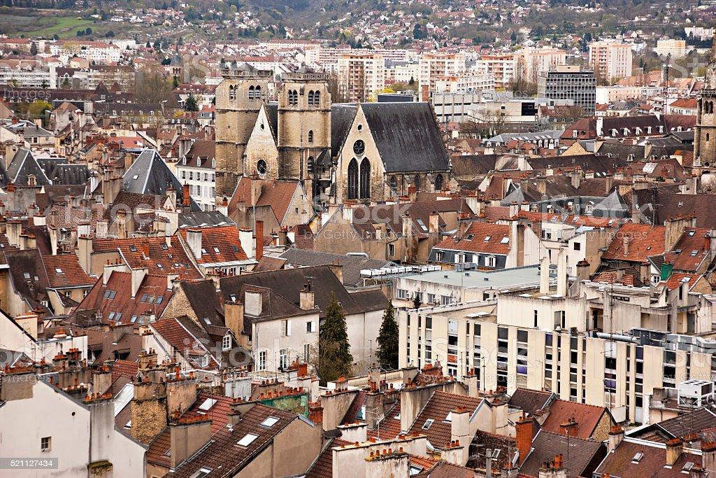 Cityscape of Dijon, France stock photo