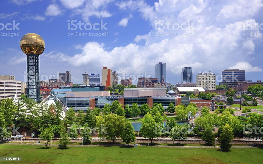 Cityscape of downtown Knoxville stock photo