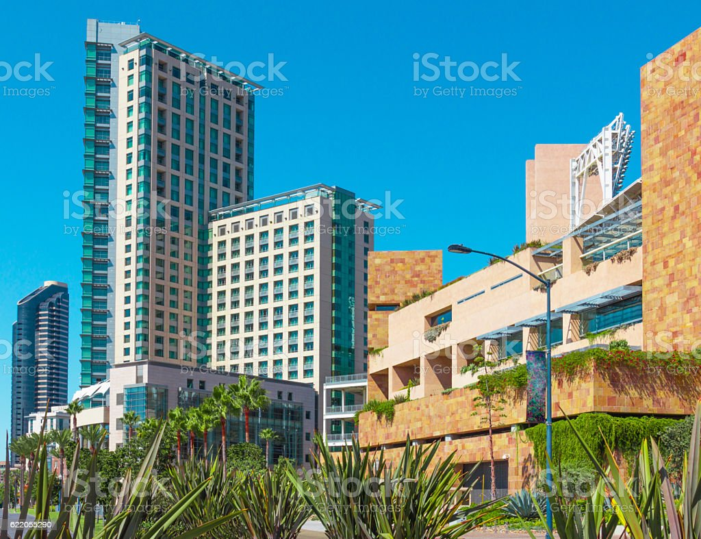 Cityscape of Downtown San Diego (P) stock photo