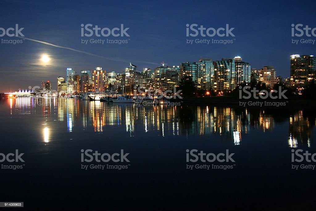 Cityscape of Downtown Vancouver, Canada royalty-free stock photo