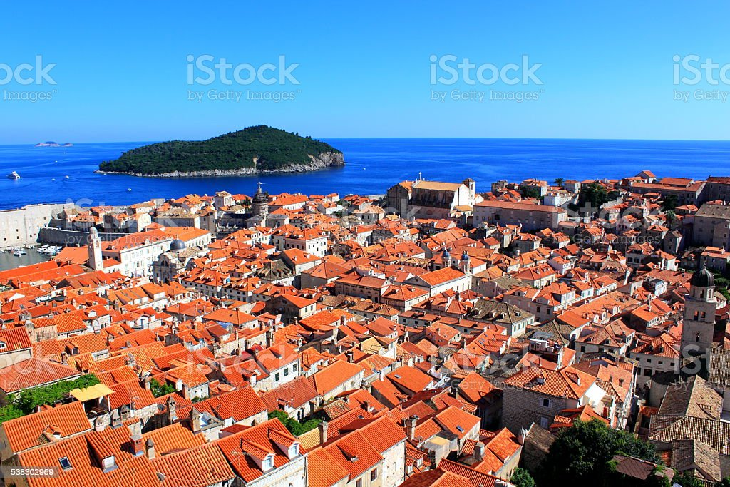 Cityscape of Dubrovnik royalty-free stock photo