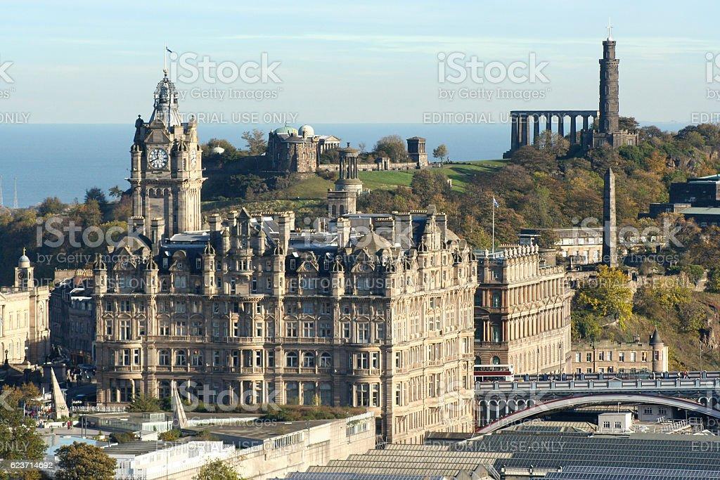 Cityscape of Edinburgh stock photo