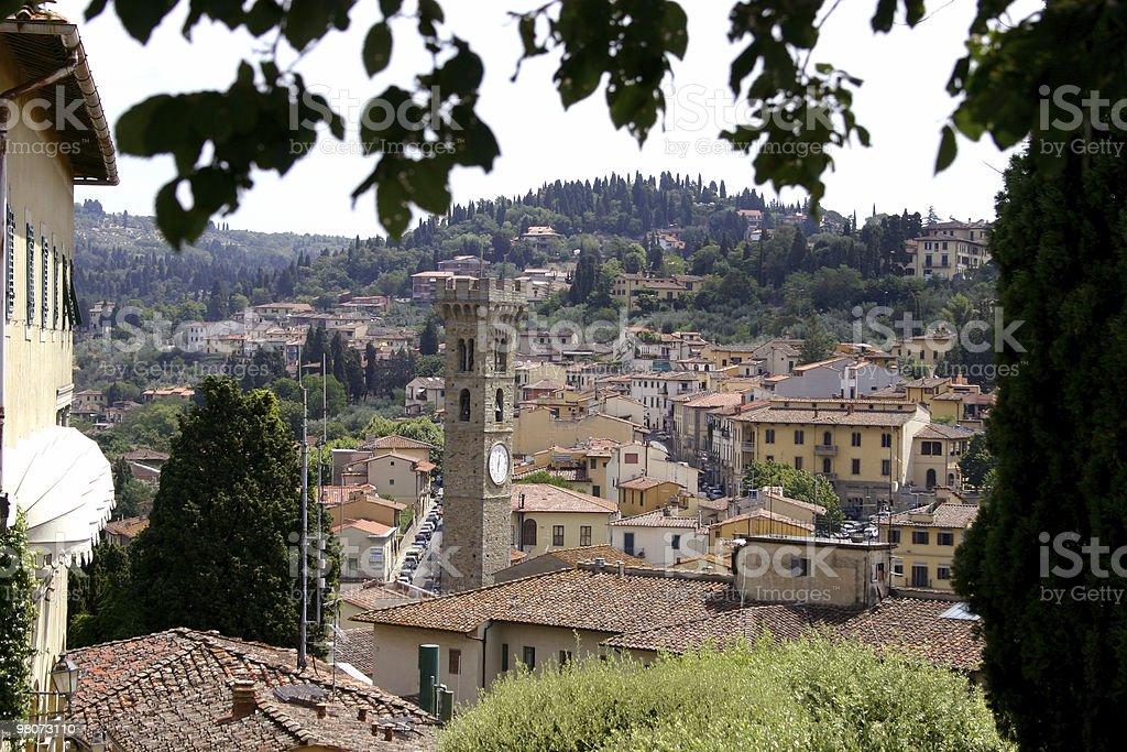 Cityscape of Fiesole stock photo