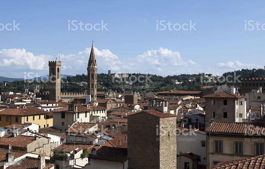 Cityscape of Florence Italy stock photo