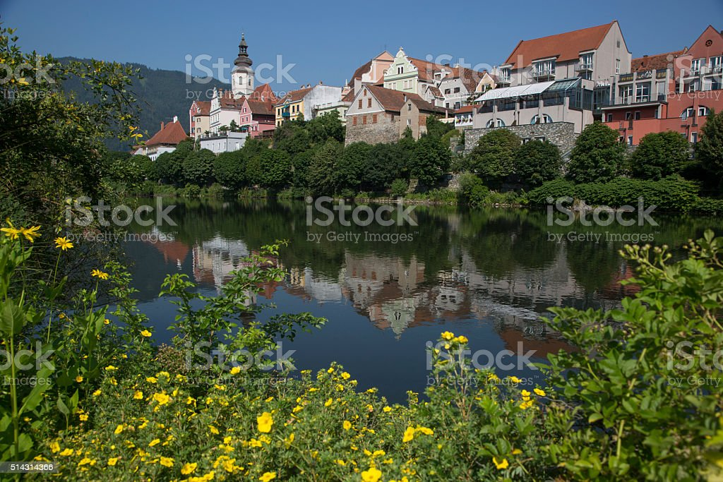 cityscape of frohnleiten, styria,austria stock photo