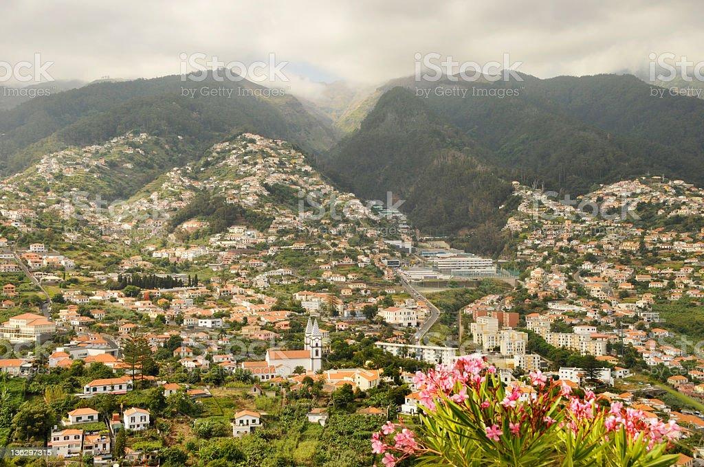 Cityscape of Funchal,Madeira Island royalty-free stock photo