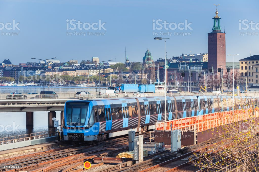 Cityscape of Gamla Stan city district stock photo
