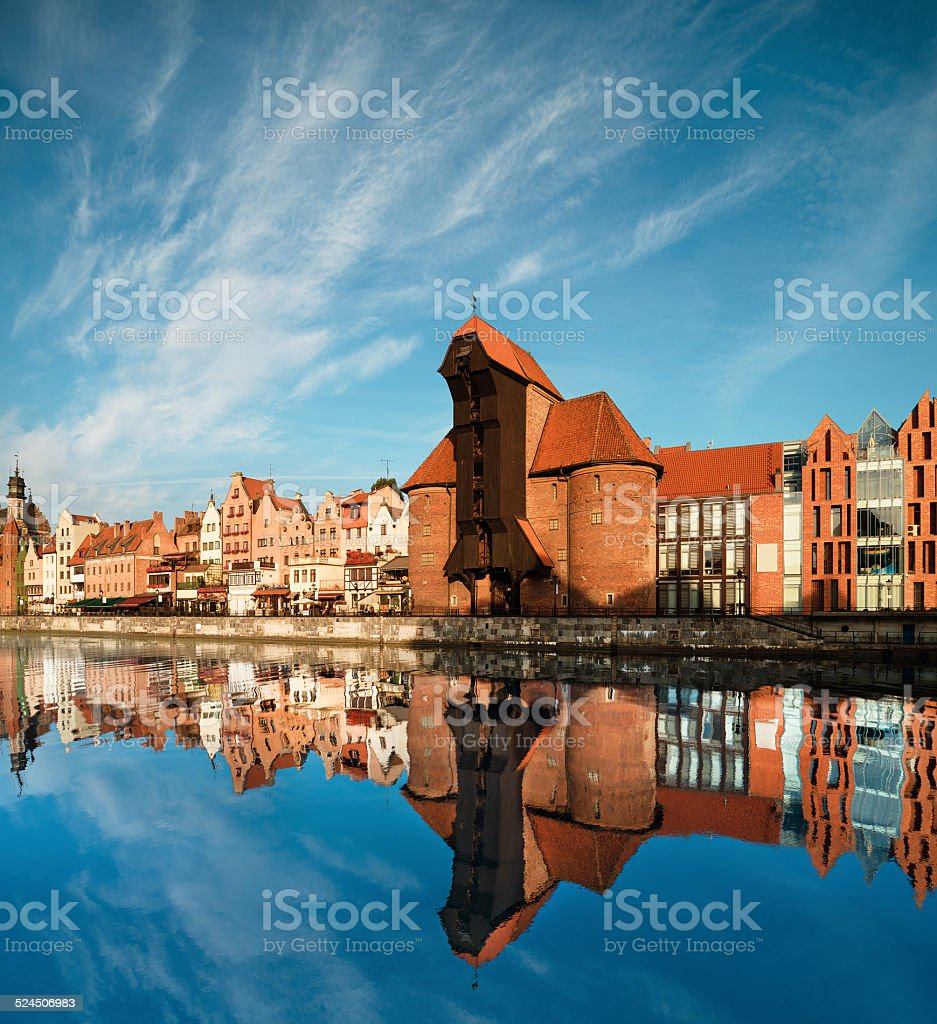 Cityscape of Gdansk stock photo