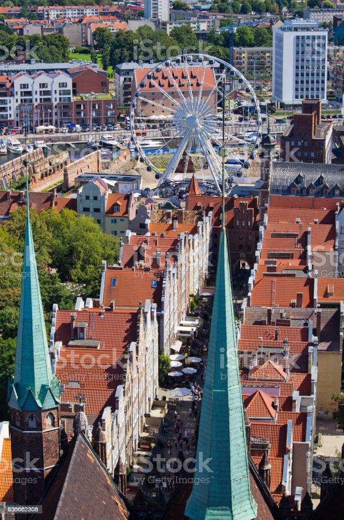 Cityscape of Gdansk, Poland stock photo