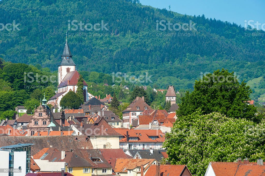 Cityscape of Gernsbach stock photo