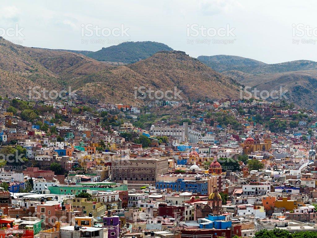 Cityscape of Guanajuato, Mexico stock photo