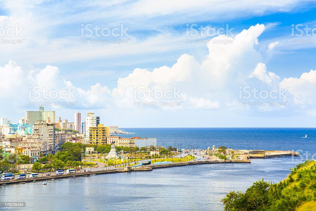 Cityscape of Havana, Cuba stock photo