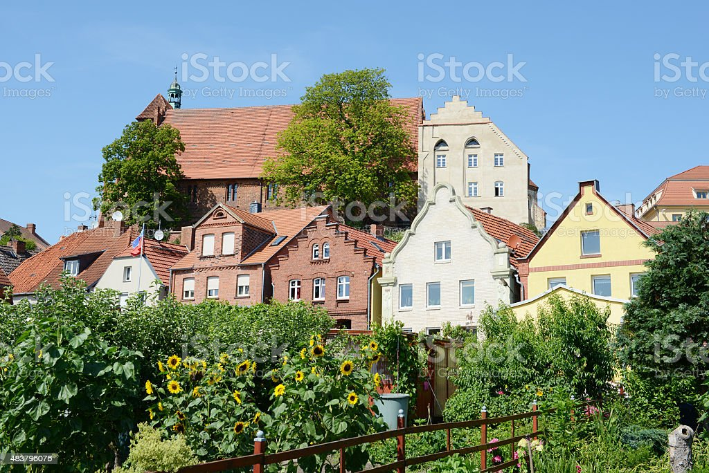 Cityscape of Havelberg (Germany) stock photo