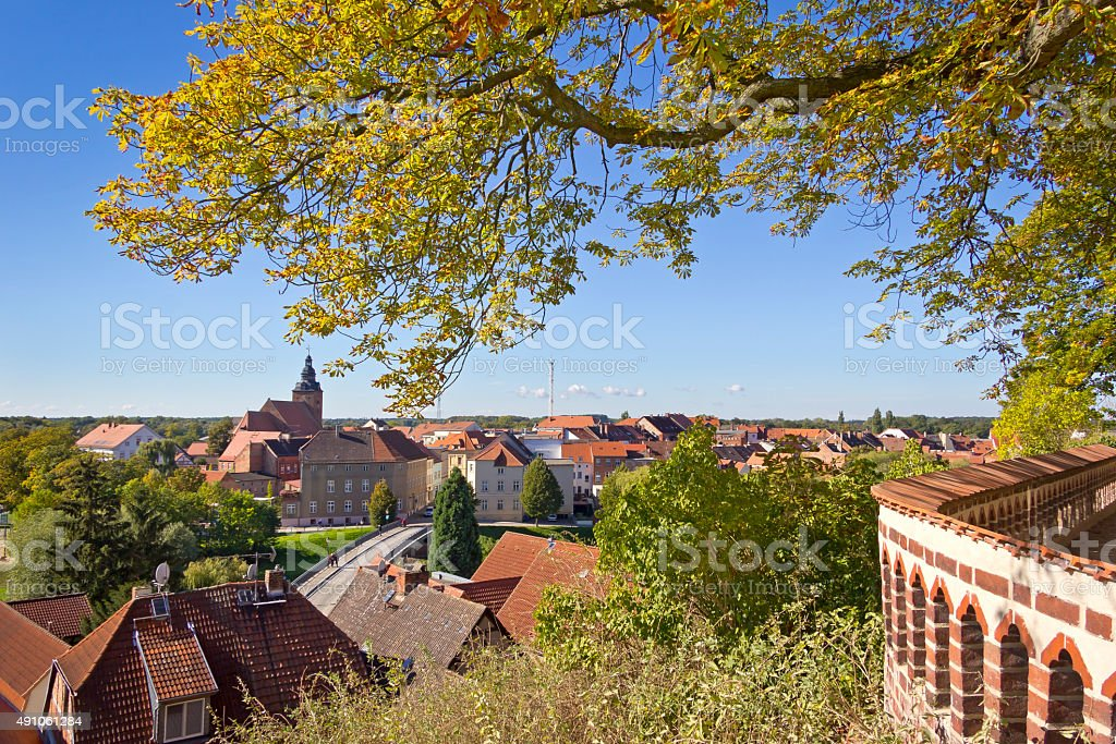 Cityscape of Havelberg stock photo