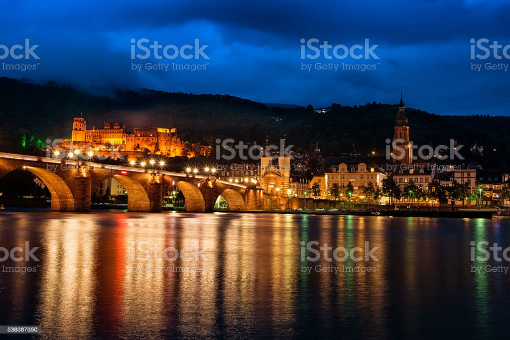 Cityscape of Heidelberg, Germany stock photo