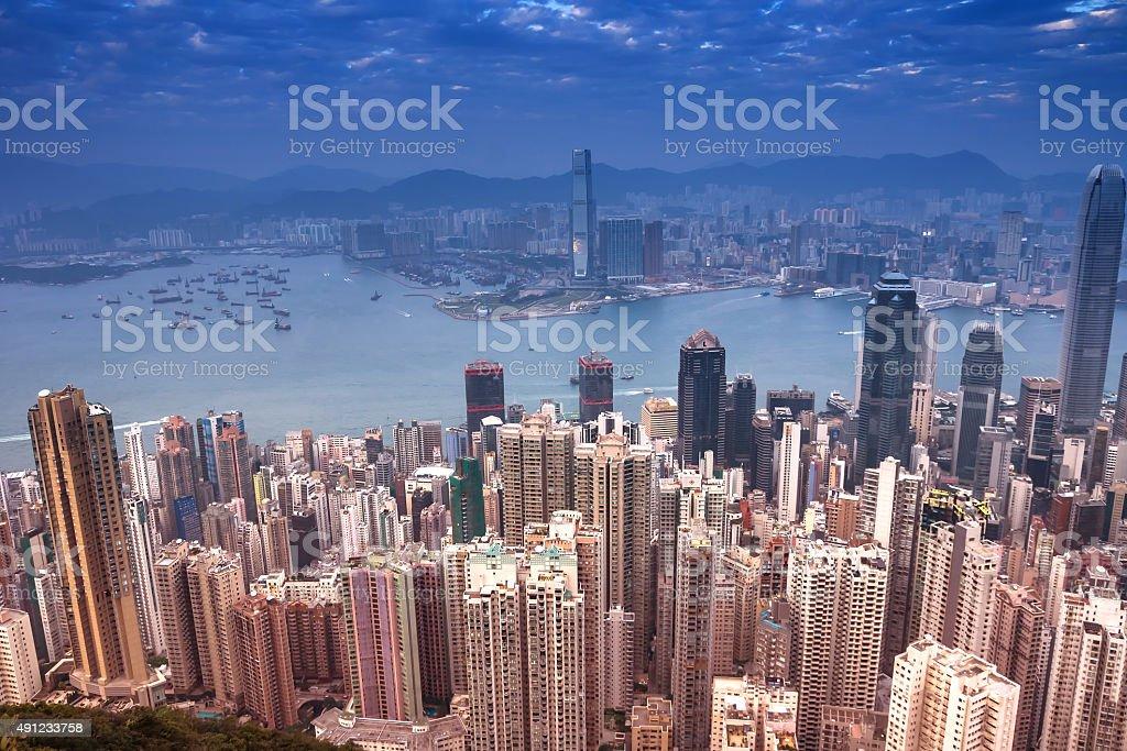 Cityscape of Hong Kong,China stock photo