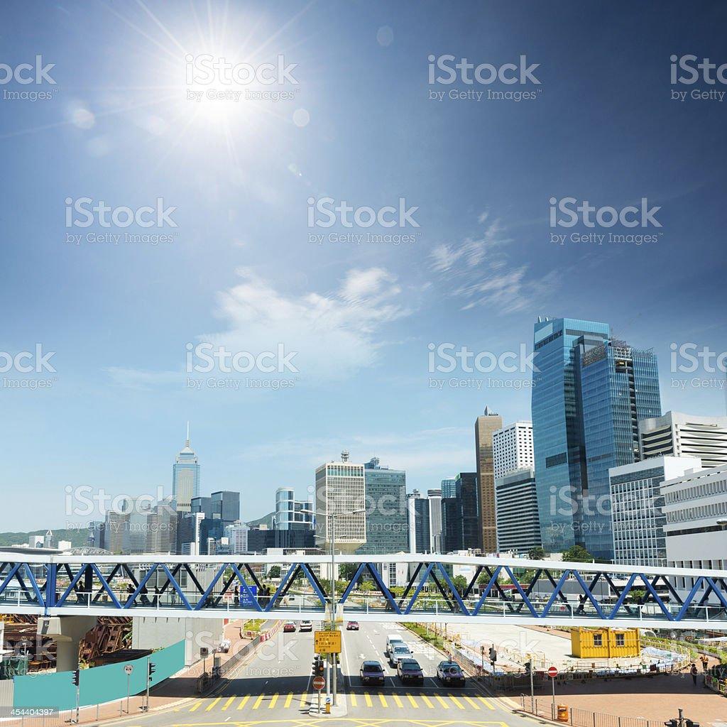 cityscape of hongkong royalty-free stock photo