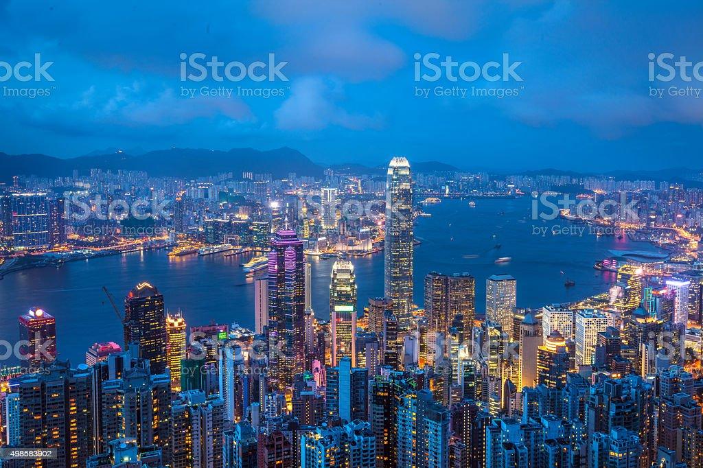 Cityscape of Hongkong stock photo