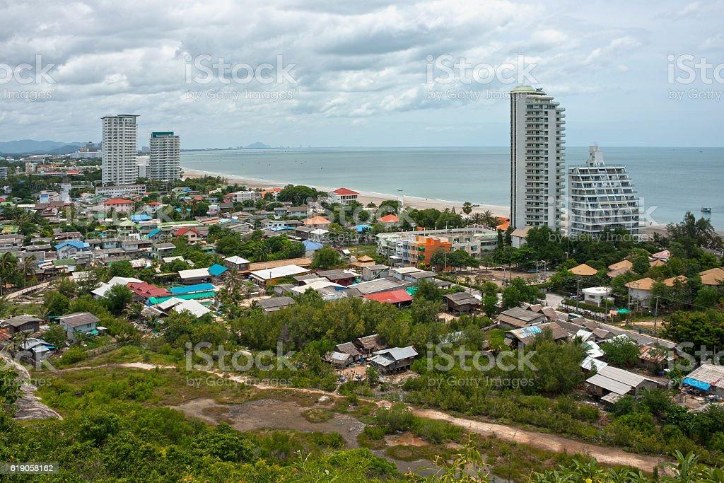 Cityscape of Hua Hin stock photo