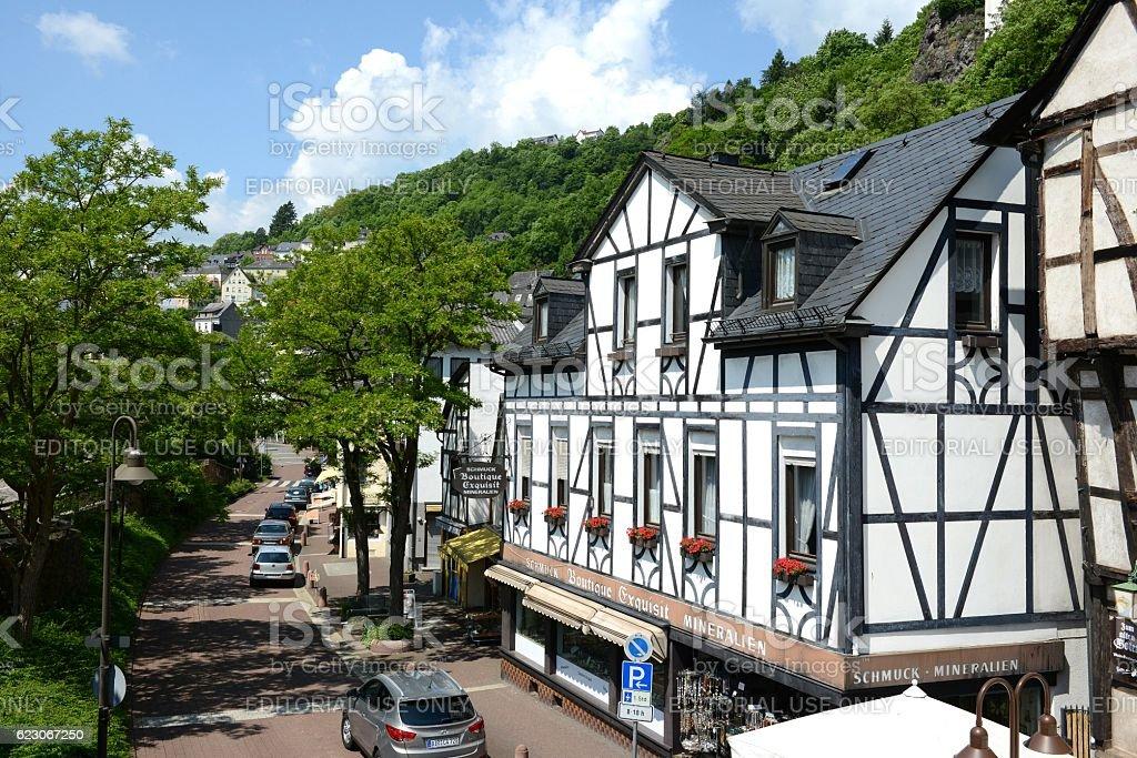 Cityscape of Idar-Oberstein in Rhineland-Palatinate stock photo