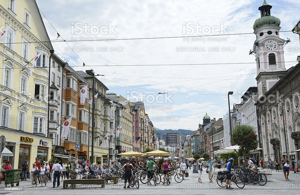 Cityscape of Innsbruck (Austrian) royalty-free stock photo