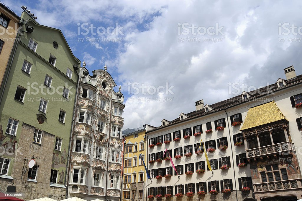 Cityscape of Innsbruck with Golden Roof (Austrian) royalty-free stock photo