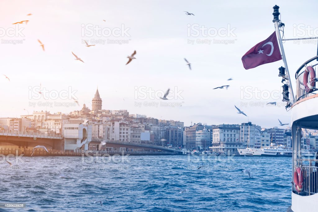 Cityscape of Istanbul from fairy stock photo