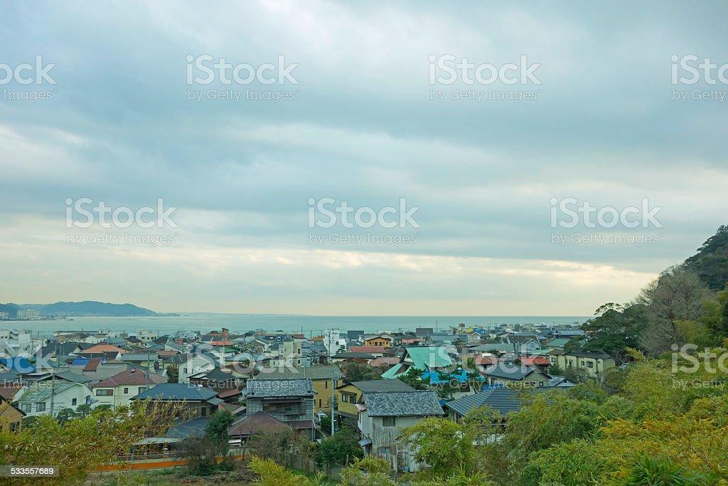 Cityscape of Kamakura stock photo