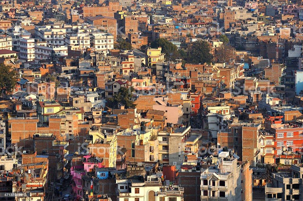 Cityscape of  Kathmandu City, Nepal. royalty-free stock photo