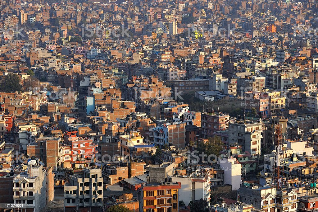 Cityscape of  Kathmandu City, Nepal. royalty-free stock photo