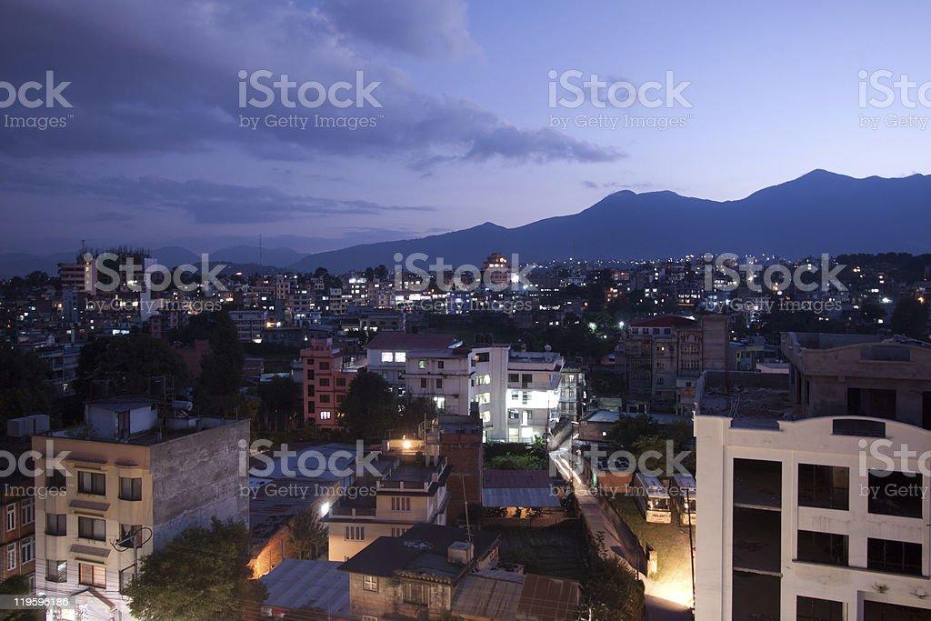 Cityscape of Kathmandu, Nepal royalty-free stock photo