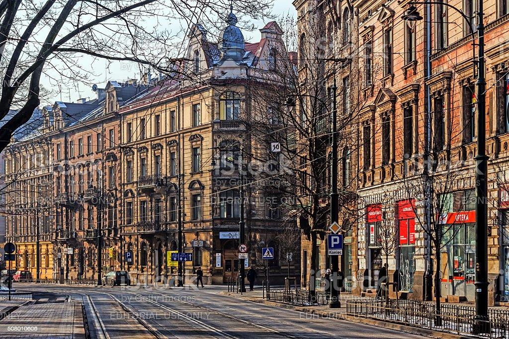 Cityscape of Krakow stock photo